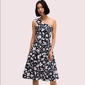 Kate Spade Splash one-shoulder floral mini dress